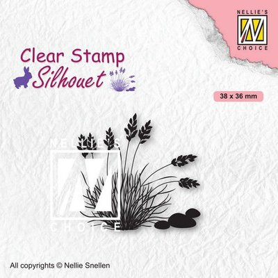 Nellies Choice Clearstempel - Silhouette Bloeiend gras - 4 SIL085 (02-21)