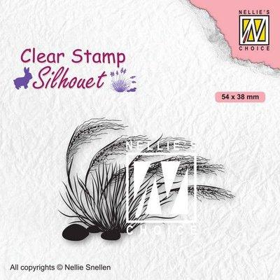Nellies Choice Clearstempel - Silhouette Bloeiend gras - 3 SIL084 (02-21)