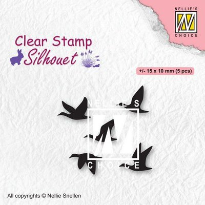 Nellies Choice Clearstempel - Silhouette Vogels SIL081 (02-21)