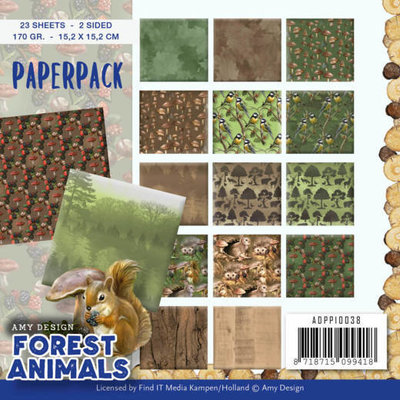 ADPP10038 Paperpack - Amy Design  Forest Animals