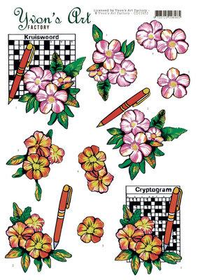 CD11652 3D Cutting Sheet - Yvon's Art - Crossword Puzzle