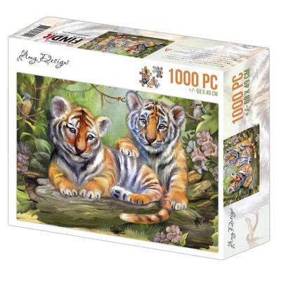 ADPZ1012 Jigsaw puzzel 1000 pc - Amy Design - Tigers
