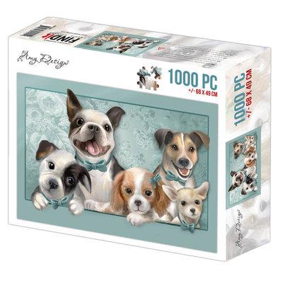 ADPZ1006 Jigsaw puzzel 1000 pc - Amy Design - Dogs