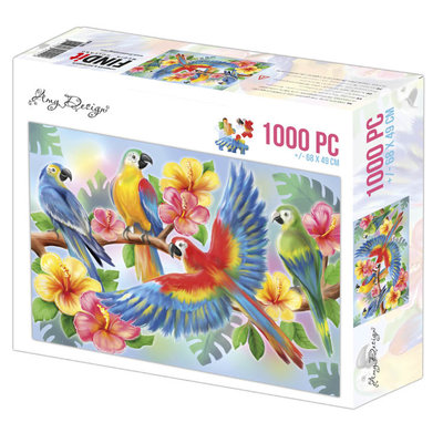 ADPZ1005 Jigsaw puzzel 1000 pc - Amy Design - Parrots