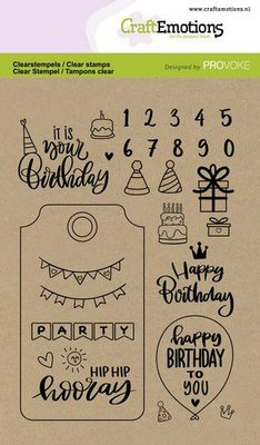 CraftEmotions clearstamps A6 - Birthday (Eng) Provoke (3-21)