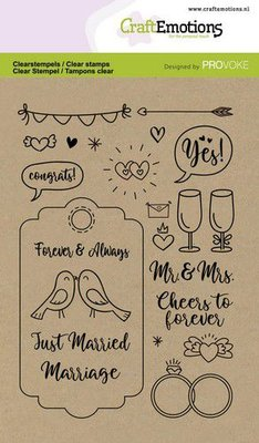CraftEmotions clearstamps A6 - Wedding (Eng) Provoke (3-21)