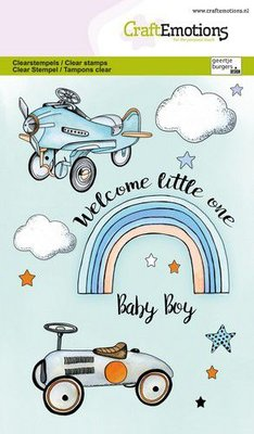 CraftEmotions clearstamps A6 - Babyboy (ENG) GB (03-21)