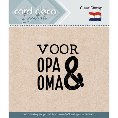 CDECS033 Card Deco Essentials - Clear Stamps - Voor Opa & Oma
