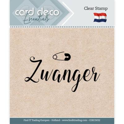 CDECS032 Card Deco Essentials - Clear Stamps - Zwanger