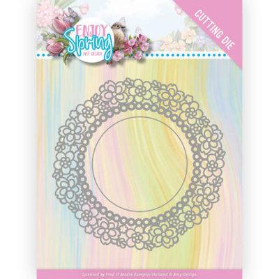 ADD10238 Dies - Amy Design - Enjoy Spring - Flower Circle