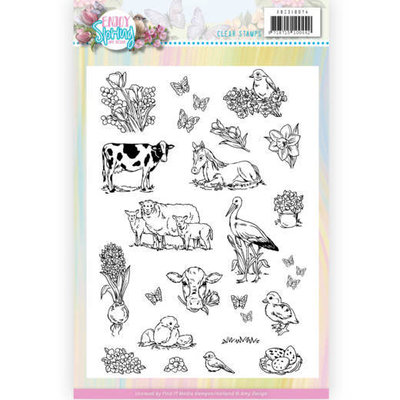ADCS10074 Clear Stamps - Amy Design - Enjoy Spring