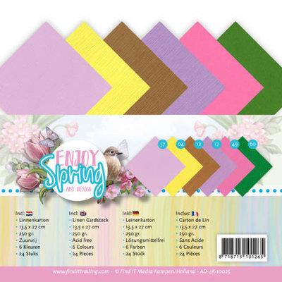 AD-4K-10025 Linen Cardstock Pack - 4K - Amy Design - Enjoy Spring