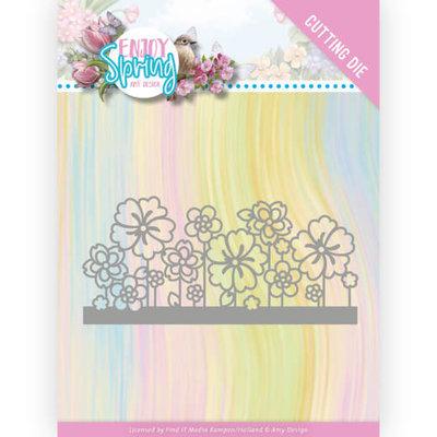 ADD10240 Dies - Amy Design - Enjoy Spring - Flower Border
