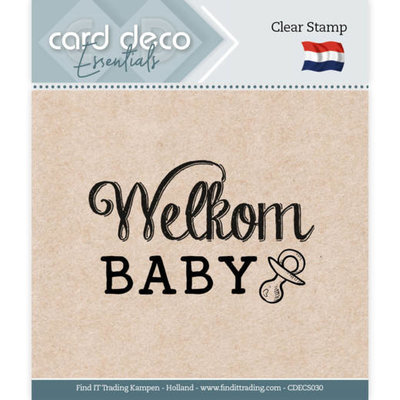 CDECS030 Card Deco Essentials - Clear Stamps - Welkom Baby