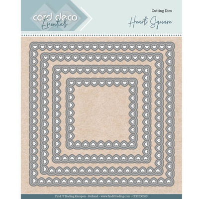 CDECD0100 Card Deco Essentials - Nesting Dies - Bullet Hearts Square
