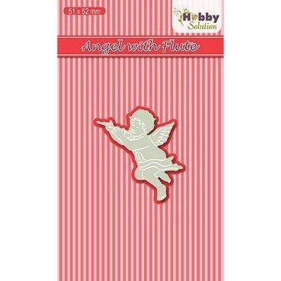 HSDJ012 - Nellies Choice Hobby Solutions Die Cut Engel met fluit