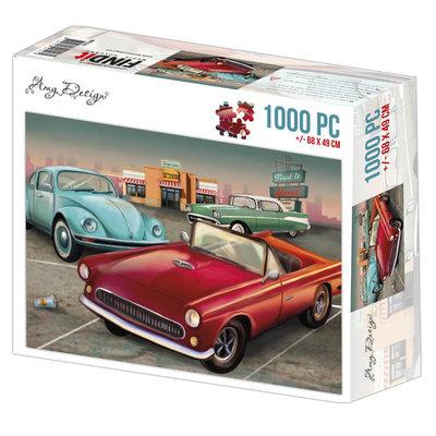 ADPZ1016 Jigsaw puzzel 1000 pc - Amy Design - Vintage Cars