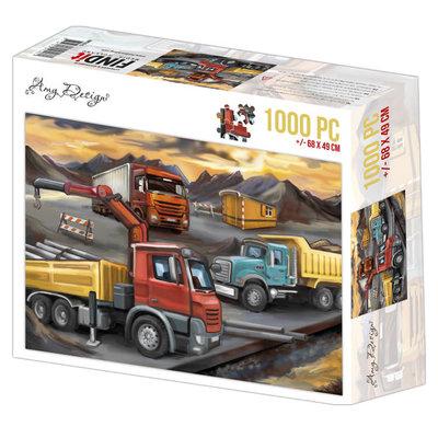 ADPZ1015 Jigsaw puzzel 1000 pc - Amy Design - Lorries