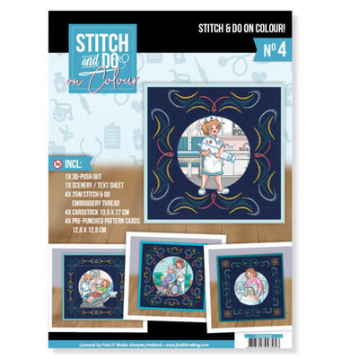 STDOOC10004 Stitch and Do on Colour 004 - Yvonne Creations - Bubbly Girls Professions
