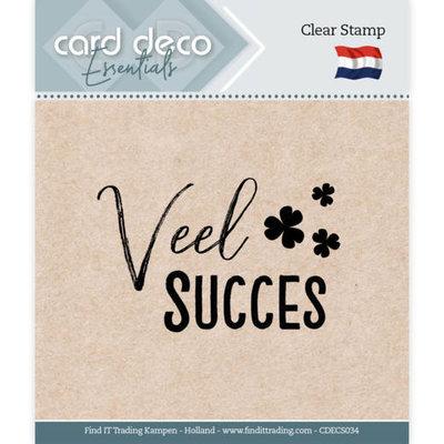 CDECS034 Card Deco Essentials - Clear Stamps - Veel Succes