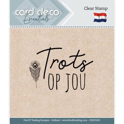 CDECS035 Card Deco Essentials - Clear Stamps - Trots op jou