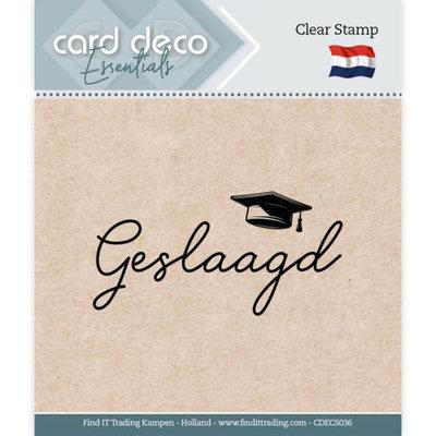 CDECS036 Card Deco Essentials - Clear Stamps - Geslaagd