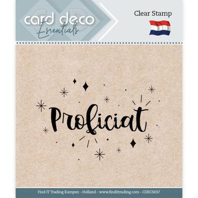 CDECS037 Card Deco Essentials - Clear Stamps - Proficiat