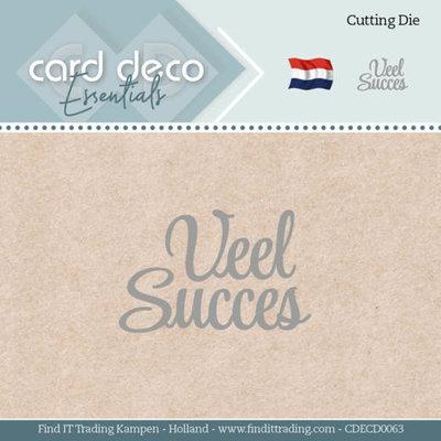 CDECD0063 Card Deco Essentials - Dies - Veel Succes