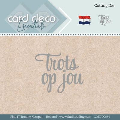 CDECD0064 Card Deco Essentials - Dies - Trots op jou
