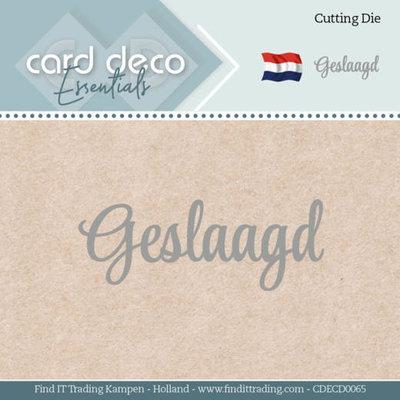 CDECD0065 Card Deco Essentials - Dies - Geslaagd
