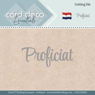 CDECD0066 Card Deco Essentials - Dies - Proficiat
