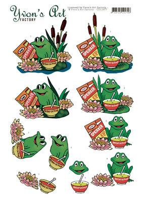 CD11677 3D Cutting Sheet - Yvon's Art - Get well Frog