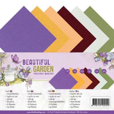 PM-A5-10029 Linen Cardstock Pack - A5 - Precious Marieke - Beautiful Garden