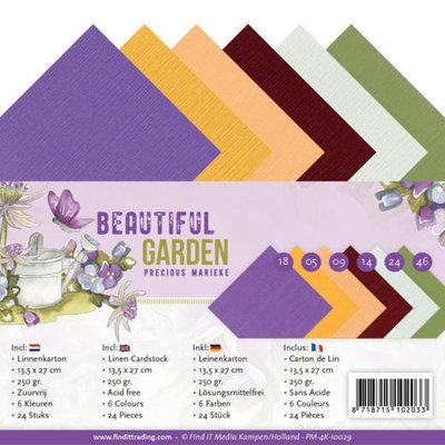 PM-4K-10029 Linen Cardstock Pack - 4K - Precious Marieke - Beautiful Garden