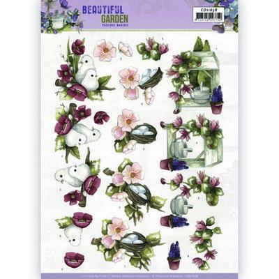 CD11638 - HJ19401 3D Cutting Sheet - Precious Marieke - Beautiful Garden - Pigeon