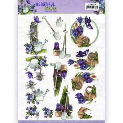 CD11636 3D Cutting Sheet - Precious Marieke - Beautiful Garden - Butterfly