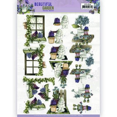 CD11635 3D Cutting Sheet - Precious Marieke - Beautiful Garden - Garden Gnome