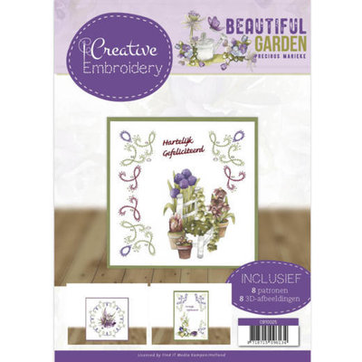 CB10025 Creative Embroidery 25 - Precious Marieke - Beautiful Garden