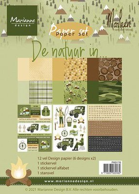 Marianne D Paper pad De natuur in By Marleen PK9176 A5 (05-21)