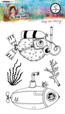Studio Light By Marlene Clear Stamp So-Fish-Ticated nr.12 ABM-SFT-STAMP12 A5 (05-21)