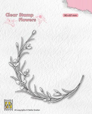 Nellie's Choice Clear stamps Flowers - Bloeiend takje FLO029 90x87mm (04-21)