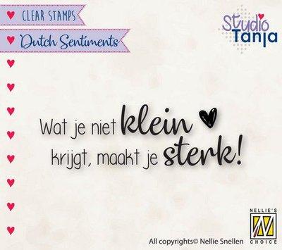 Nellies Choice Clearstempel Sentiments - Wat je niet klein (NL) SENC016 65x21mm (04-21)