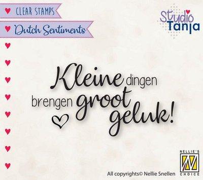 Nellies Choice Clearstempel Sentiments - Kleine dingen (NL) SENC015 63x33mm (04-21)