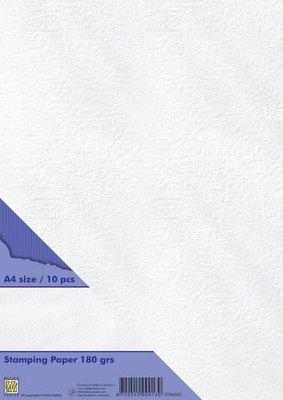 Nellie's Choice Stempel papier 10st wit STPA002 A4 180 gr (04-21)