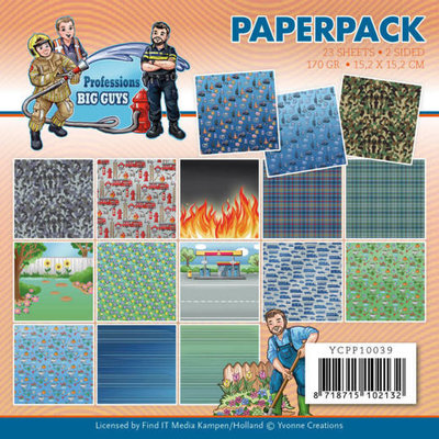 YCPP10039 Paperpack - Yvonne Creations - Big Guys Professions