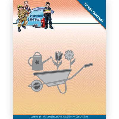 YCD10241 Dies - Yvonne Creations - Big Guys Professions - wheelbarrow