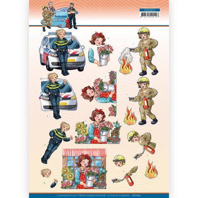 CD11672 3D Cutting Sheet - Yvonne Creations - Big Guys Professions - Female Professions