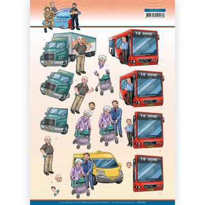CD11671 3D Cutting Sheet - Yvonne Creations - Big Guys Professions - Bus Driver