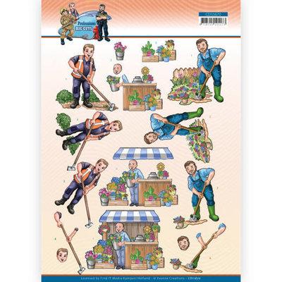 CD11670 3D Cutting Sheet - Yvonne Creations - Big Guys Professions - Gardener