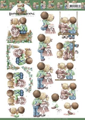CD11683 3D Cutting Sheet - Yvonne Creations - Love